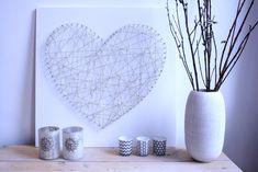 DIY hart maken van spijkers en touw