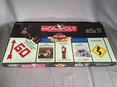 Harley Davidson Monopoly Live To Ride Edition Open Box, Sealed Pieces