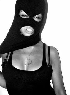 girl behind ski mask; In Russian language it has naming Kukla, doll in English. How weird. Bad Girls Club, Evvi Art, Fille Gangsta, Thug Girl, Bad Girl Wallpaper, Gangster Girl, Mask Girl, Balaclava, Girl Swag