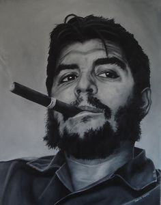 Che Guevara Portrait Oil Painting  by David Dunne Art