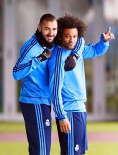 11/04/16 | Marcelo and Karim in training - Real Madrid