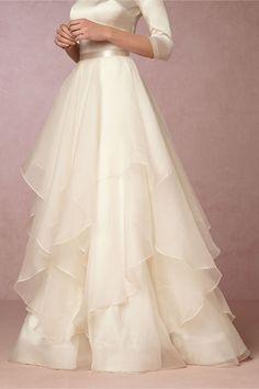 BHLDN Lowell Skirt in  Bride Bridal Separates Skirts | BHLDN
