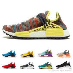 95bc63a4f41 2019 Human Race Pharrell Williams Hu trail NERD Men Women Running Shoes  Best Quality Seankers Yellow Blue Sports Shoes Size 36-47
