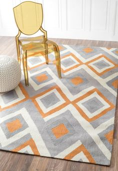 Chalet Herringbone Flatwoven Orange Rug Contemporary Rugs For The Home Pinterest And