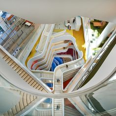 """Hassell's office building for Medibank is designed to """"get people moving"""". Watch the exclusive video on dezeen.com/movies"""