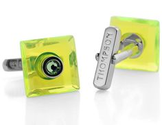 Thompsonlondon.com - #PERSPEX - GREEN #NEON #CUFFLINKS http://www.thompsonlondon.com/product/53/perspex-green.html