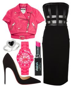 """""""Pink ladies - Grease"""" by musicals-today ❤ liked on Polyvore featuring Moschino, David Koma, Christian Louboutin, Ice and Amour"""