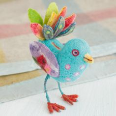 Cute wet felted bird from ~ Carnival of Felting