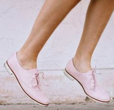 Blush oxfords