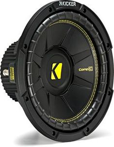 Kicker CompC Subwoofer Dual Voice Coil The CompC 400 watt DVC Subwoofer is equipped with stamped steel frame construction, inheriting elite innovations for world-class KICKER power, durability and hard-hitting, high-performance bass. Kicker Subwoofer, Subwoofer Box, Bass, Jl Audio, Headphone Amp, Car Audio Systems, Best Buy Store, Audiophile, Audio Amplifier