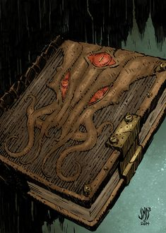 ARTIFACT tome by JMD3 on DeviantArt Fantasy Books, Fantasy Art, Magia Elemental, Call Of Cthulhu Rpg, Eldritch Horror, Medieval, Dnd Art, Weapon Concept Art, Magic Book