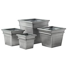 Light Weight Zinc Cube Planter in Shiny White | Patio and Yard ... on square terracotta planters, square iron planters, square stone planters, square plastic planters, square fiberglass planters, square white planters, square outdoor planters, square lead planters, square garden planters, square aluminum planters, square tin planters, square brass planters,