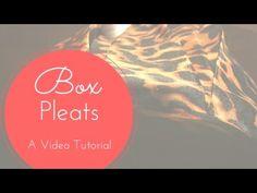 DIY Tutorial : How to make box pleats
