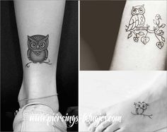 tatuajes pequeños de buhos