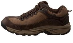 New Balance Country Walking Shoes for Men MW967  Major features of New Balance Country Walking Shoes for Men MW967 include double density collar foam and water proofed material.      Waterproof leather and mesh upper.     Rubber sole.     Good for outdoor activities .     Keep your feet dry because of waterproof materials used.     Seam sealed.     Foam Insert used is premium.     ABZORB technology for extra cushioning and shock absorption.     Arch is medium