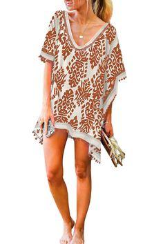 BUTTERFLY LEOPARD LADIES SUMMER BEACH DRESS SWIMWEAR COVER UP KAFTAN KIMONO