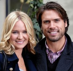 Sharon and Nick.Newman....(Sharon Case & Joshua Morrow)  Alas, no longer a couple on Y&R; Sharon's with Dylan McAvoy and Nick's with Sage Warner AND both couples are expecting!!!