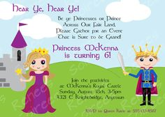 PRINCE and Princess or PRINCESS & KNIGHT Birthday Party - Printable Invitation - Customizable Invite diy. $12.95, via Etsy.