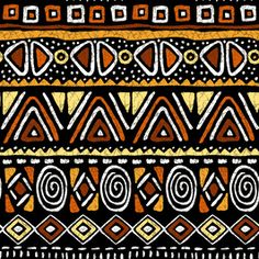 African Clash Geometric by Christine Lara Seamless Repeat Royalty-Free Stock Pattern African Tribal Patterns, African Textiles, Ethnic Patterns, African Fabric, Print Patterns, African Prints, Tribal African, Pintura Tribal, Africa Art