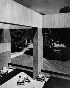 "fuckyeahbrutalism: ""Falmer House, University of Sussex, UK, (Sir Basil Spence) "" Post Modern Architecture, University Of Sussex, Brickwork, Postmodernism, Brutalist, Facade, 1960s, Exterior, Basil"