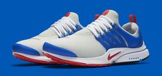 Red, Grey And Blue Covers This Nike Air Presto