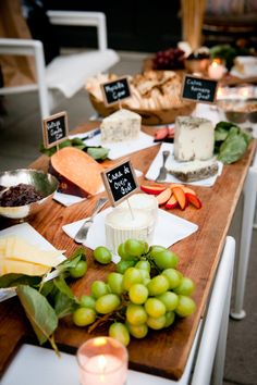 Beautiful cheese boards at my bday