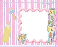 fondos para imprimir gratis de bebe nina | la casa de chichi: Invitaciones Baby Shower