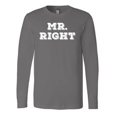 Mr. Right Couple 1 Male Valentine´s Day T-shirt