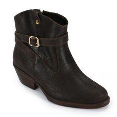 Ankle Boot Café com Fivela BON14203