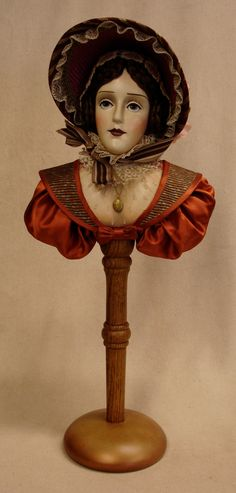 Mary Graham A Dicken's Character by SirCedricsGoodHeads on Etsy, $295.00 - Created by Lynda M. Jasper-Vogel