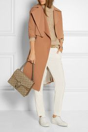 Pasinios convertible crepe trench coat
