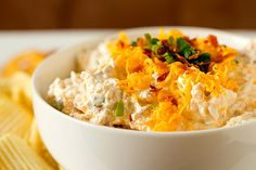 Loaded Baked Potato Dip (no potatoes were hurt making this dip  lol..)