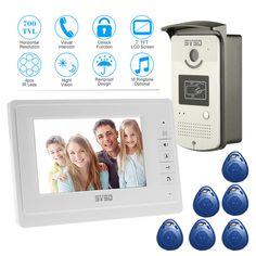 8g Sd Free Shipping New 7 Door Monitor Video Intercom Home Door Phone Recorder System Em Door Lock Elegant In Smell Waterproof Rain Cover