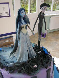 "Tim Burton's ""Corpse Bride"" Wedding Cake Topper"