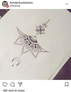 mandala underboob tattoo design - Tattoo-Ideen - Tattoo World Mandala Tattoo Design, Tattoo Designs, Mandala Sternum Tattoo, Sternum Tattoos, Tatoos, Lotus Mandala Design, Henna Mandala, Body Art Tattoos, New Tattoos