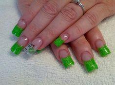 St pattys day nails.. Kiss me im irish