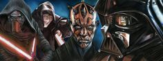"""Star Wars sith lords, painting, poster, print, reproduction, drawing by artist eugene, 15""""x40"""" inches"""