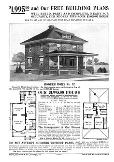1000 images about sears kit homes on pinterest kit for Modern american foursquare house plans