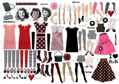 Digital Collage Sheet 192 Retro PNG and JPEG 1950s by liquidpoppy