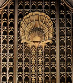 Architectural Detail: Doorway of The Shell Building - 100 Bush Street @ Battery, San Francisco 1929, (architect) George W. Kelham