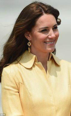 Catherine, Duchess of Cambridge arrives into Paro International Airport for the first day of a two day visit to Bhutan on April 14, 2016 in Paro, Bhutan.