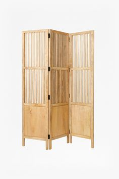 Panelled wooden screen 3 panel construction Due to the nature of the product, the appearance may vary between pieces. Buy Furniture Online, New Furniture, Small Space Living, Small Spaces, French Connection Home, Contemporary Home Furniture, Wooden Screen, Boho Room, Dream Rooms