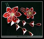 Passion Flower Pair by ~Kurokami-Kanzashi on deviantART