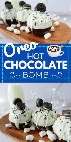 Hot Chocolate Coffee, Hot Chocolate Gifts, Christmas Hot Chocolate, Chocolate Bomb, Hot Chocolate Bars, Hot Chocolate Recipes, Chocolate Treats, Cocoa Recipes, Bombe Recipe