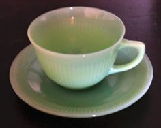 Walnut & Vine:  my first collectible, a jadite cup and saucer