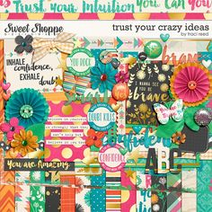 Trust Your Crazy Ideas Digital Scrapbooking Kit by Traci Reed Designs