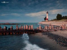 Crisp's Point #Lighthouse is located on the deserted shore of Lake Superior, just 37 miles north of Newberry, #Michigan. - Crisp's Point Lighthouse is considered one of the most inaccessible & lonely mainland lighthouses in the Upper Peninsula, yet can be reached by taking a narrow country road through the Lake Superior State Forest. - photo via Pure Michigan fb page http://www.roanokemyhomesweethome.com