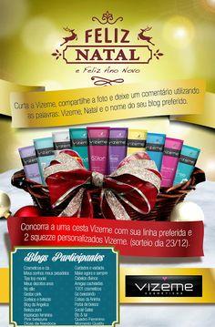 Pinkbelezura: SORTEIO DE NATAL - Vizeme Cosméticos