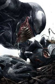 Have you read Venomverse, and if so what are your thoughts? - Everyone's favorite symbiote goes from bad to Venomverse! Venom Comics, Marvel Venom, Marvel Villains, Marvel Comics Art, Bd Comics, Marvel Characters, Marvel Heroes, Comic Kunst, Comic Art