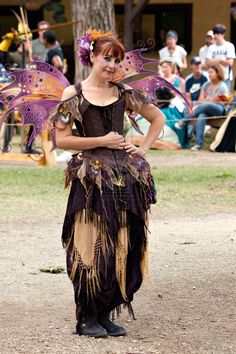 I'm wearing my new Anastasia Fairy Wings design. Purple fairy with Anastasia Fairy Wings Renaissance Fairy, Renaissance Festival Costumes, Renaissance Clothing, Renaissance Outfits, Forest Fairy Costume, Faerie Costume, Fairy Costumes, Cool Costumes, Adult Costumes